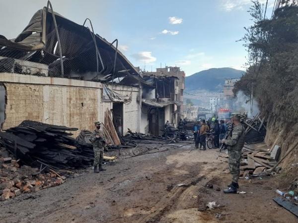 Por una riña intrafamiliar se habría desatado el incendio en el barrio Caicedo de Pasto