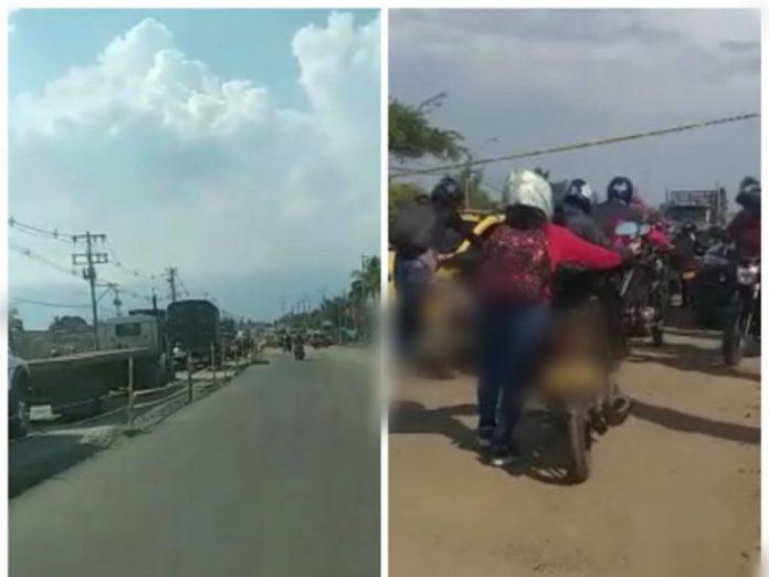 Presencian fuga de gas en La Nubia vía Cali-Candelaria, hay atasco y restricción de paso - Noticias de Colombia