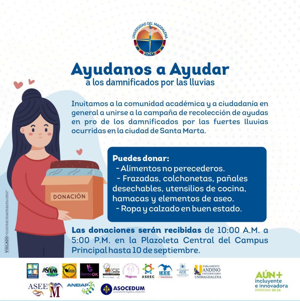 Unimagdalena promueve 'donatón' para los damnificados por el invierno en Santa Marta - Noticias de Colombia