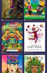 ¡Derroche de talento! afiches del Carnaval exhibidos en el parque de Rumipamba - Noticias de Colombia