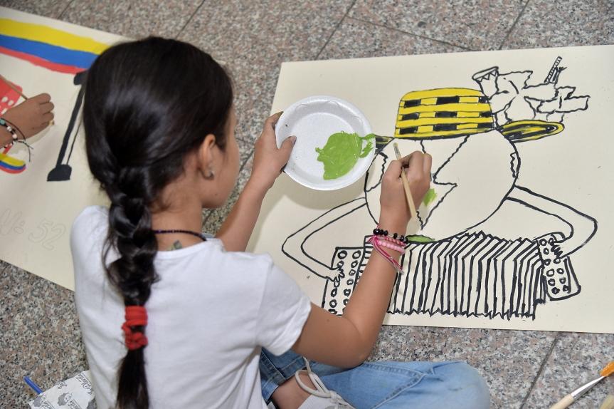 """130 estudiantes participan en el concurso """"Los niños pintan el Festival Vallenato"""" - Noticias de Colombia"""