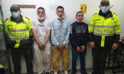 A la cárcel tres hombres que al parecer atacaron y hurtaron a un ciudadano amenazándolo con supuestas armas de fuego - Noticias de Colombia
