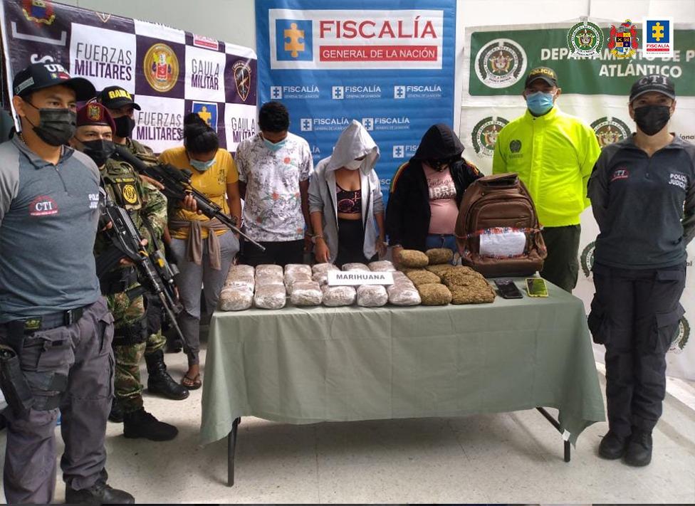 A prisión cuatro presuntos integrantes de la banda La Hermandad, dedicada al tráfico de estupefacientes en el Atlántico y Magdalena - Noticias de Colombia
