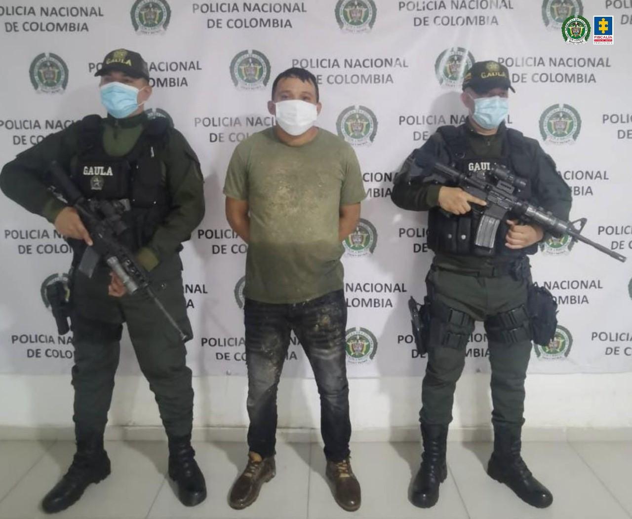 Asegurado alias Doble 6, presunto integrante del grupo armado organizado Clan del Golfo - Noticias de Colombia