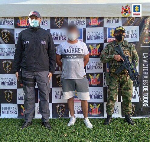 Capturado alias 'Catalino', presunto integrante del 'Clan del Golfo'