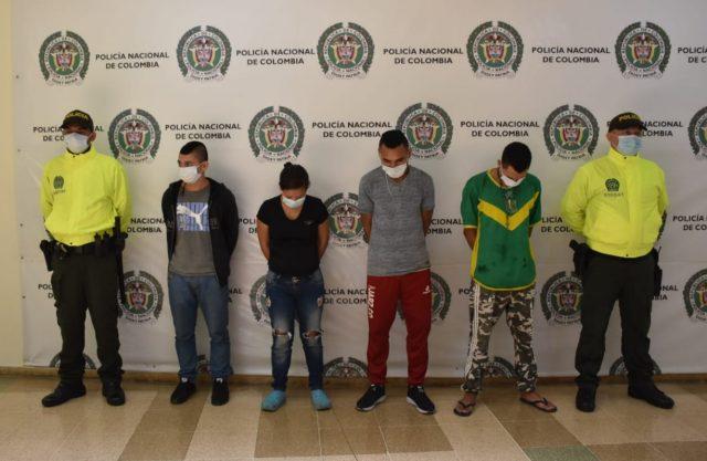 Cuatro capturados y una menor de edad aprehendida por el delito de homicidio en el Quindío - Noticias de Colombia