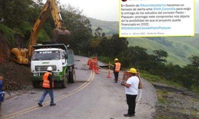Desde Nariño exigieron al Gobierno la entrega de estudios de la vía Pasto- Popayán para que no quede desfinanciado