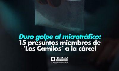 Duro golpe al microtráfico: 15 presuntos miembros de 'Los Camilos' a la cárcel - Noticias de Colombia