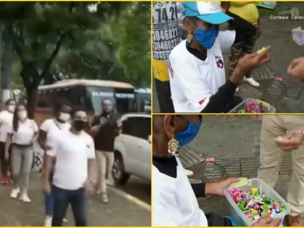 Hicieron cola solidaria para comprar caramelos para doña Ana