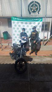 En el municipio de Puracé la Policía Metro Politana recupera motocicleta - Noticias de Colombia