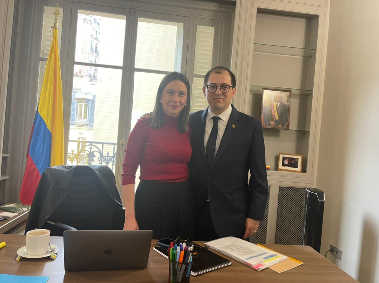 Fiscal Francisco Barbosa se reunió con la Embajadora de Colombia ante la OCDE - Noticias de Colombia
