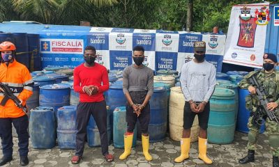 Fiscalía judicializó a tres tripulantes que transportaban ilegalmente canecas con gasolina, en una lancha sin matricula - Noticias de Colombia