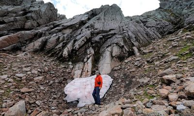 La llamada Esfinge, en Braeriach, en los Cairngorms, ha sobrevivido prácticamente todos los veranos desde que comenzaron los registros en el siglo XVIII.  Pero podría convertirse en víctima del cambio climático