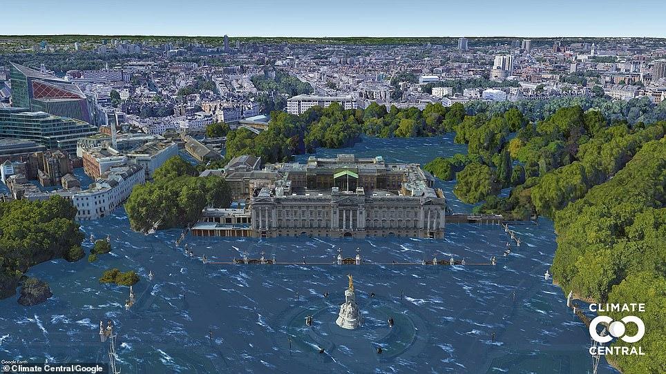 Palacio de Buckingham por debajo de 5.4F de aumento