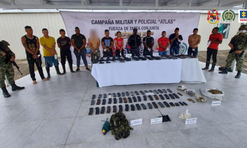 Judicializados 12 presuntos integrantes del grupo residual Frente 30 en Tumaco (Nariño)