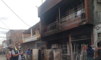 familias afectadas por el incendio de Cali