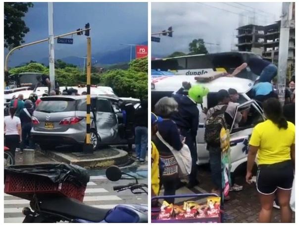 La ambulancia que no se ajustaba a los estándares de transporte de pacientes chocó con otro vehículo