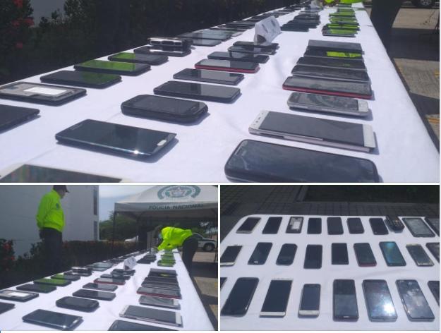 Más de 100 celulares, 2.300 accesorios para los mismos y confecciones fueron Incautados por la Polfa - Noticias de Colombia