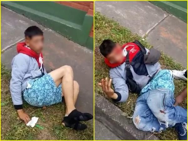 Otro caso de justicia por mano propia en Pasto: cuando robaba la comunidad lo atrapó, lo golpeó y la desvistió