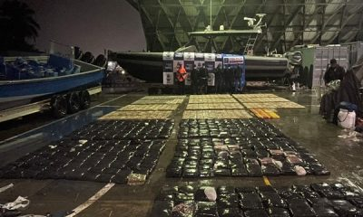 Otro millonario cargamento de droga cayó en aguas del Pacifico, llevaban más de tonelada y media de coca