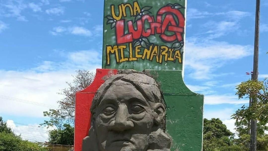 Polémica tras retirar monumento de Manuel Quitían Lame en Ibagué - Noticias de Colombia