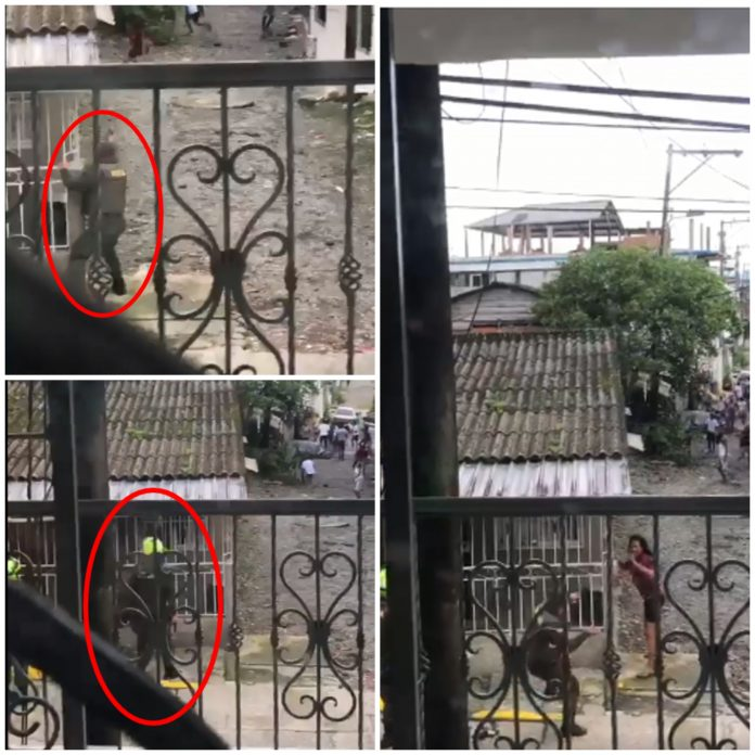 La policía y la comunidad se enfrentaron con piedras en Buenaventura, denuncian