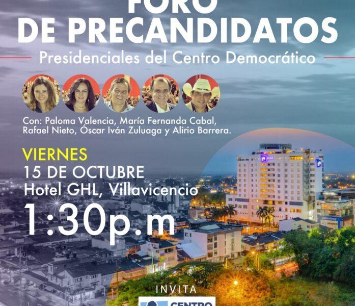 Un llanero entre los precandidatos presidenciales del Centro Democrático