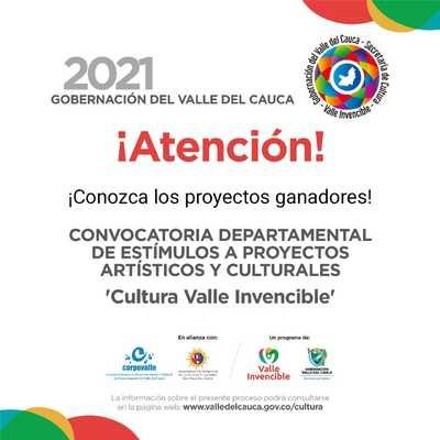 Proyecto de Buenaventura entre los 92 ganadores de la Convocatoria Departamental de Estímulos para proyectos artísticos y culturales 2021